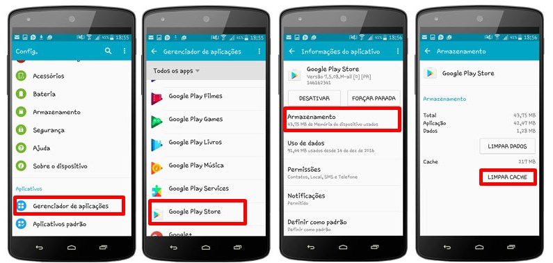 how to clear cache play store